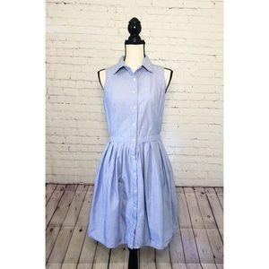 G.H. Bass Blue Denim Button-Up Summer Dress Sz M